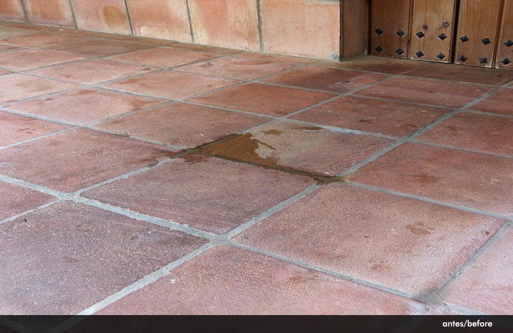 Limpiar piedra natural exterior cmo limpiar y tratar - Limpiar suelo pizarra ...