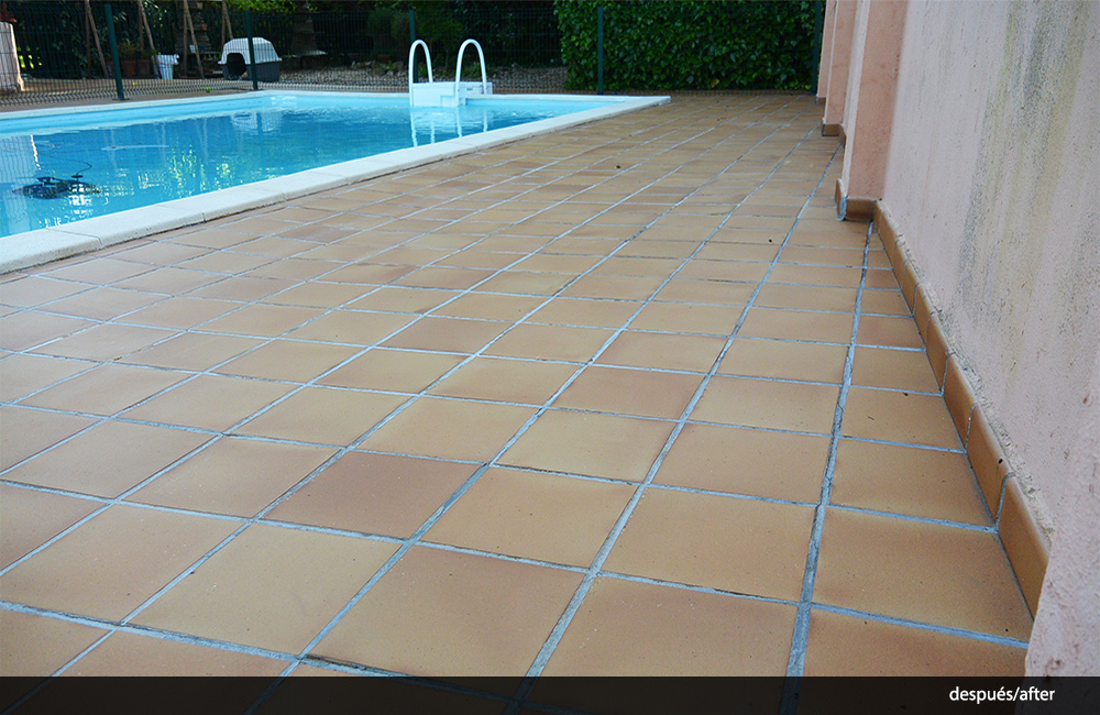 Limpiar piedra caliza exterior cool prueba de limpieza de for Limpiar terraza exterior