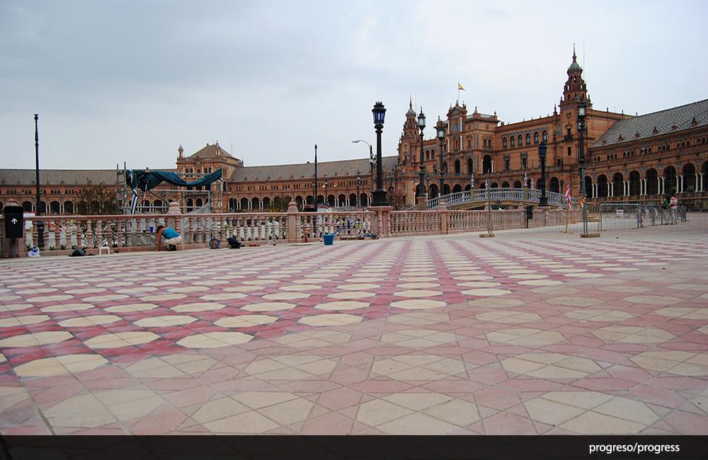 Limpieza de suelos hidr ulicos plaza espa a sevilla - Suelo hidraulico sevilla ...