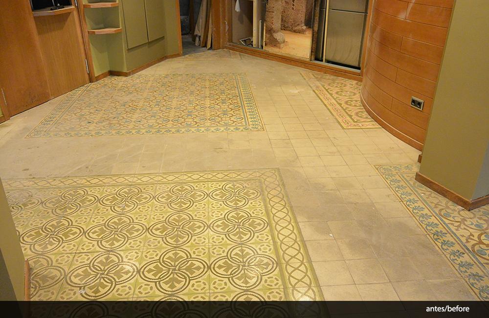 Limpieza de suelos hidr ulicos cafeter a almirantazgo - Suelo hidraulico sevilla ...